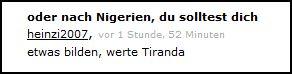 Heinzi2007 postet im ORF-Forum